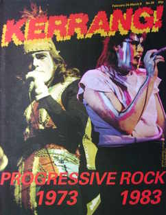 <!--1983-02-24-->Kerrang magazine - Peter Gabriel and Fish cover (24 Februa