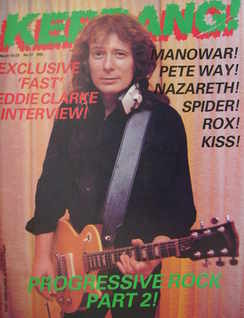 <!--1983-03-10-->Kerrang magazine - Fast Eddie Clarke cover (10-23 March 19