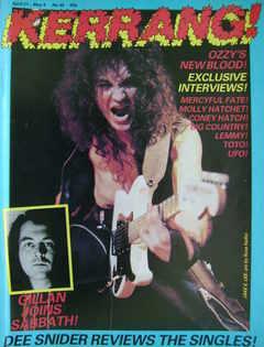 <!--1983-04-21-->Kerrang magazine - Jake E. Lee cover (21 April - 4 May 198