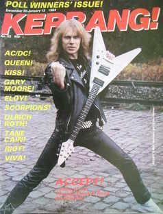 <!--1982-12-30-->Kerrang magazine - Wolf Hoffman cover (30 December 1982 -