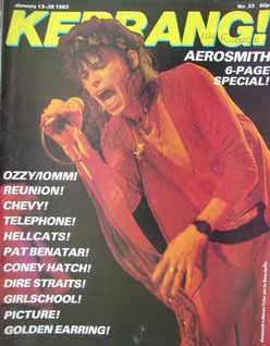 <!--1983-01-13-->Kerrang magazine - Steven Tyler cover (13-26 January 1983
