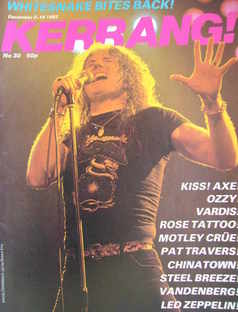 <!--1982-12-02-->Kerrang magazine - David Coverdale cover (2-15 December 19