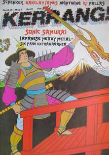 <!--1984-04-19-->Kerrang magazine - Sonic Samurai cover (19 April - 2 May 1