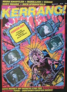 <!--1984-03-08-->Kerrang magazine - Vision On! cover (8-21 March 1984 - Iss