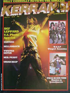 <!--1983-07-01-->Kerrang magazine - Joe Elliott cover (1-13 July 1983 - Iss