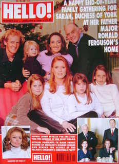 <!--1999-01-09-->Hello! magazine - Sarah Ferguson and Family cover (9 Janua