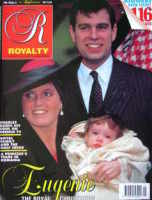 <!--0010-05-->Royalty Monthly magazine - Prince Andrew, The Duchess of York and Princess Eugenie cover (February 1991, Vol.10 No.5)