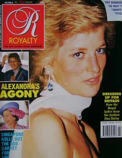 <!--1989-11-->Royalty Monthly magazine - Princess Diana cover (November 198