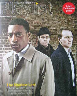 The Times Playlist magazine - 30 April 2011 - The Shadow Line cover