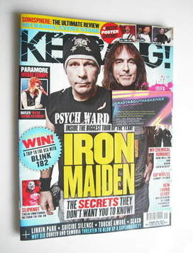 <!--2011-07-23-->Kerrang magazine - Iron Maiden cover (23 July 2011 - Issue
