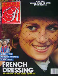 <!--1989-01-->Royalty Monthly magazine - Princess Diana cover (January 1989
