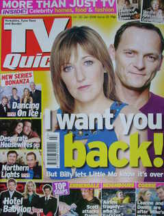 TV Quick magazine - Kacey Ainsworth and Perry Fenwick cover (14-20 January