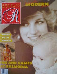 Royalty Monthly magazine - Princess Diana and Prince Harry cover (October 1988, Vol.8 No.1)