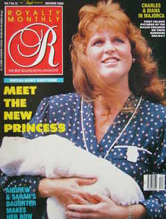 Royalty Monthly magazine - The Duchess of York cover (September 1988, Vol.7 No.12)