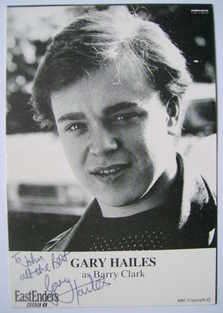 Gary Hailes autograph (ex EastEnders actor)