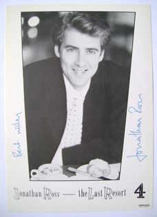 Jonathan Ross autograph