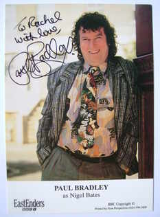 Paul Bradley autograph (ex EastEnders actor)