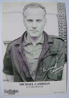 Michael Cashman autograph (ex EastEnders actor)