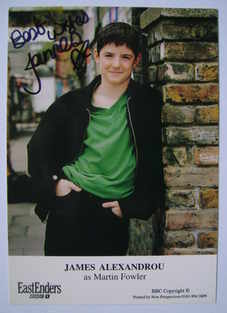 James Alexandrou autograph (ex EastEnders actor)