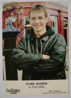 Mark Homer autograph (ex EastEnders actor)