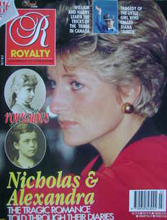 <!--1991-12-->Royalty Monthly magazine - Princess Diana cover (December 199