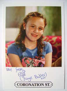 Ellie Leach autograph (hand-signed Faye Butler cast card)