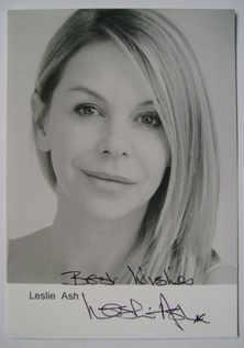 Leslie Ash autograph