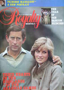 Royalty Monthly magazine - Prince Charles and Princess Diana cover (October 1981, Vol.1 No.4)