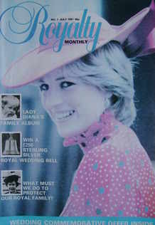 Royalty Monthly magazine - Lady Diana Spencer cover (July 1981, Vol.1 No.1)