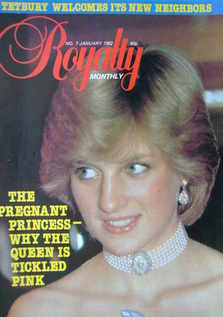 Royalty Monthly magazine - Princess Diana cover (January 1982, Vol.1 No.7)