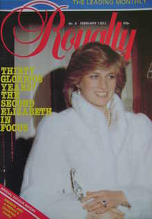 Royalty Monthly magazine - Princess Diana cover (February 1982, Vol.1 No.8)