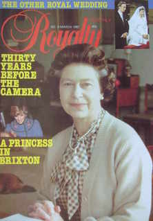 Royalty Monthly magazine - The Queen cover (March 1982, Vol.1 No.9)