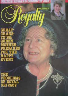 Royalty Monthly magazine - The Queen Mother cover (April 1982, Vol.1 No.10)
