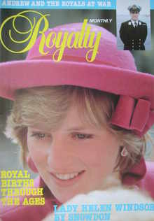 Royalty Monthly magazine - Princess Diana cover (May 1982, Vol.1 No.11)