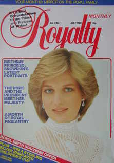 Royalty Monthly magazine - Princess Diana cover (July 1982, Vol.2 No.1)