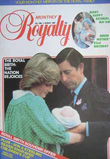 Royalty Monthly magazine - Prince Charles, Princess Diana and Prince William cover (August 1982, Vol.2 No.2)