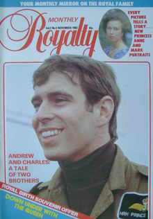 Royalty Monthly magazine - Prince Andrew cover (November 1982, Vol.2 No.5)
