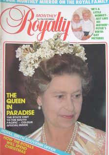 Royalty Monthly magazine - The Queen cover (December 1982, Vol.2 No.6)