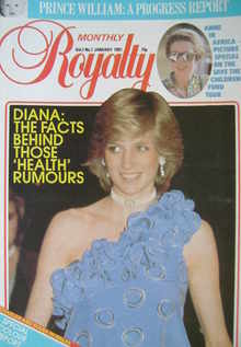 Royalty Monthly magazine - Princess Diana cover (January 1983, Vol.2 No.7)