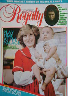 Royalty Monthly magazine - Princess Diana and Prince William cover (February 1983, Vol.2 No.8)