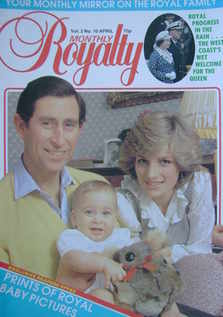 Royalty Monthly magazine - Prince Charles, Princess Diana and Prince William cover (April 1983, Vol.2 No.10)
