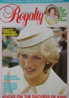 Royalty Monthly magazine - Princess Diana cover (July 1983, Vol.3 No.1)