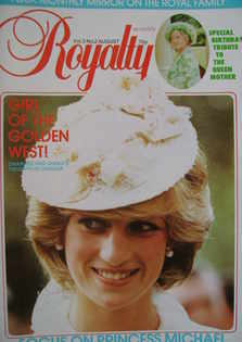 Royalty Monthly magazine - Princess Diana cover (August 1983, Vol.3 No.2)