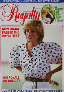 Royalty Monthly magazine - Princess Diana cover (September 1983, Vol.3 No.3)