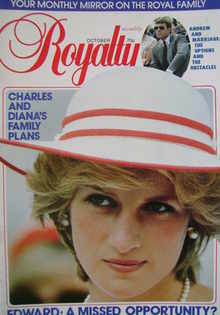 <!--1983-10-->Royalty Monthly magazine - Princess Diana cover (October 1983