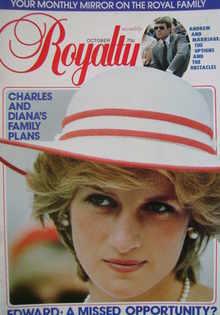 Royalty Monthly magazine - Princess Diana cover (October 1983, Vol.3 No.4)