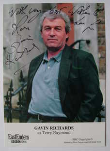 Gavin Richards autograph (ex EastEnders actor)