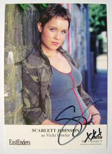 Scarlett Johnson autograph (ex EastEnders actor)