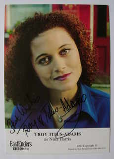 Troy Titus-Adams autograph (ex EastEnders actor)