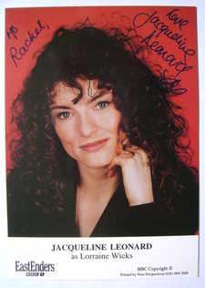Jacqueline Leonard autograph (ex EastEnders actor)